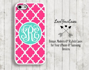 iPhone 6 Case, iPhone 6 Plus Case, iPhone 5 Case, iPhone 5c Case, Samsung Galaxy Case, Monogrammed Case, Personalized iPhone, Trellis, 507