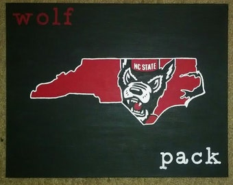 NCSU Wolfpack Tuffy State Painting