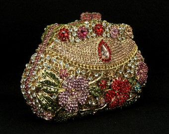 Kaderidge Crystal floral clutch