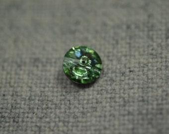 Chrysolite swarovski button