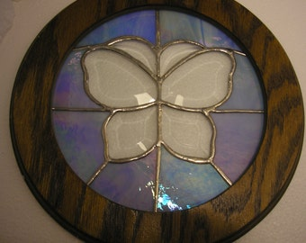 Stained Glass Beveled Butterfly