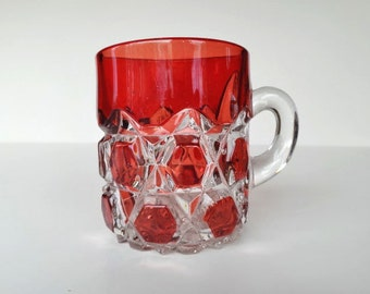 Red Glass Cup Small
