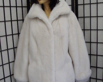 Brand new Canadian white mink fur jacket coat for women woman size all custom made