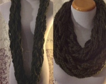 Olive Green Cozy Scarf