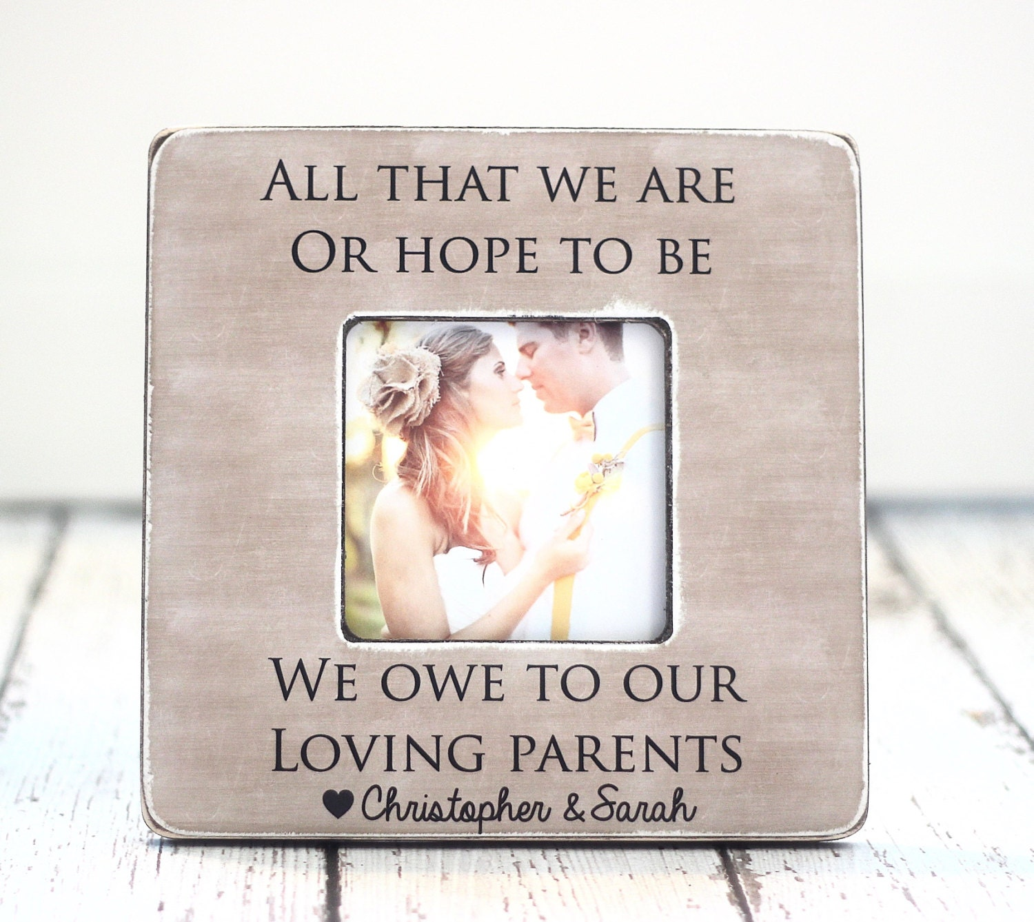Thank You Wedding Gifts Parents : Parents Thank You Wedding Gift Personalized Picture Frame All