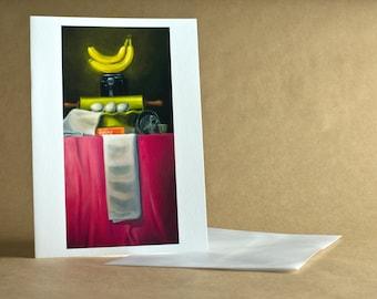 Banana Cream Pie - Single Blank Greeting Card