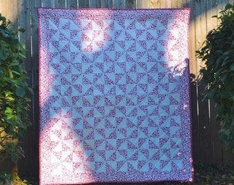 Pinwheel traditional quilt