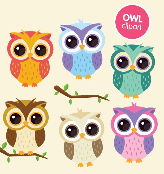Items similar to Owl clipart commercial use, digital ...
