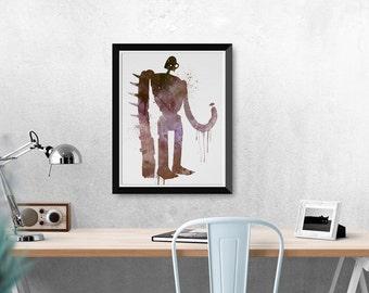 Studio Ghibli Laputa Castle In The Sky Ft. Robot Soldier Watercolor Poster