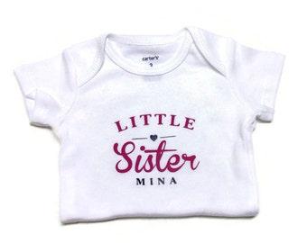 Little Sister Bodysuit/Little Sister Shirt/Little Sister/Toddler Clothing/Big Sister/Gift Ideas/Pregnancy Announcement/Toddler Shirts