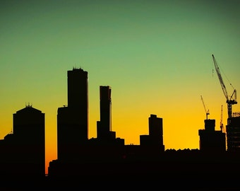 Urban Landscape Fine Art Print, Melbourne, Australia at dawn