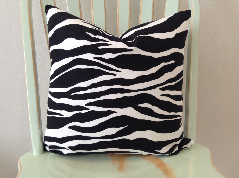Black And White Zebra Throw Pillows : Item Details