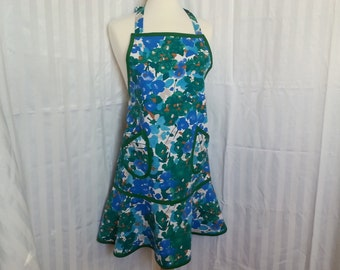 Jade and Teal Flirty Apron