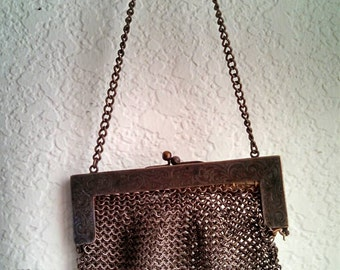 Vintage Chain Mail Purse