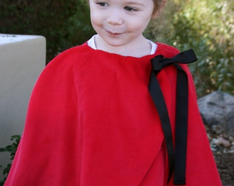Little Girls Cape with Bow Detail