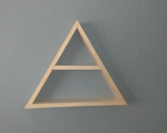 Triangle Wood Shelf