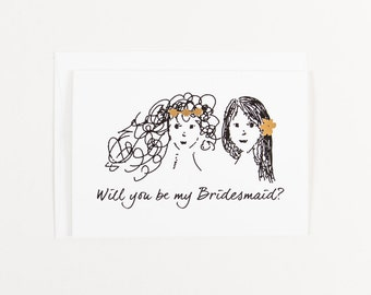 Will you be my Bridesmaid? card - Set of 6