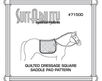 PDF Quilted Square Dressage Saddle Pad Pattern