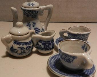 vintage mini japanese tea set