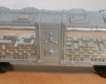 LIONEL TRAINS POSTWAR no. 6445 fort knox gold reserve car