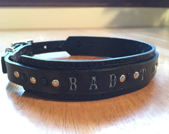 Bad to the Bone Double Layer Leather Collar