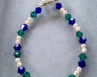 Green & Sapphire Bracelet