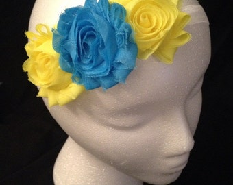 Stunning Yellow and Blue Headband