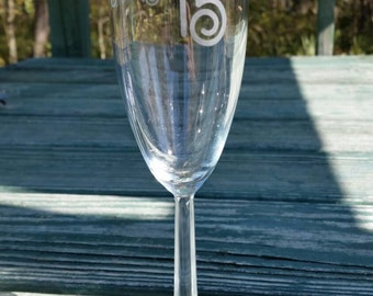 Sweet 16 or Quinceñera Personalized Champagne Glass