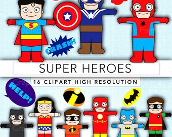 Super Hero clipart,Super Hero clip art,Heroes clipart,scrapbook,printable party,Super Hero images SH003