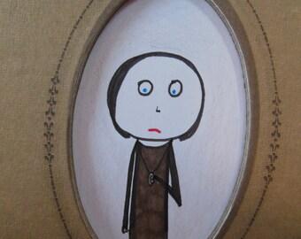 Eleonor and The Locket- framed original drawing