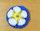 Handmade Crocheted Yorkshire Tudor Rose Flower Flag Brooch Yorkshire Day A great item for Tour de Yorkshire event Ready to ship from UK