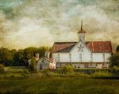 Barn, Photography. Historic, Star Barn. Custom Gallery Wrap. Rustic, Farm, Architecture. Home or Office Decor