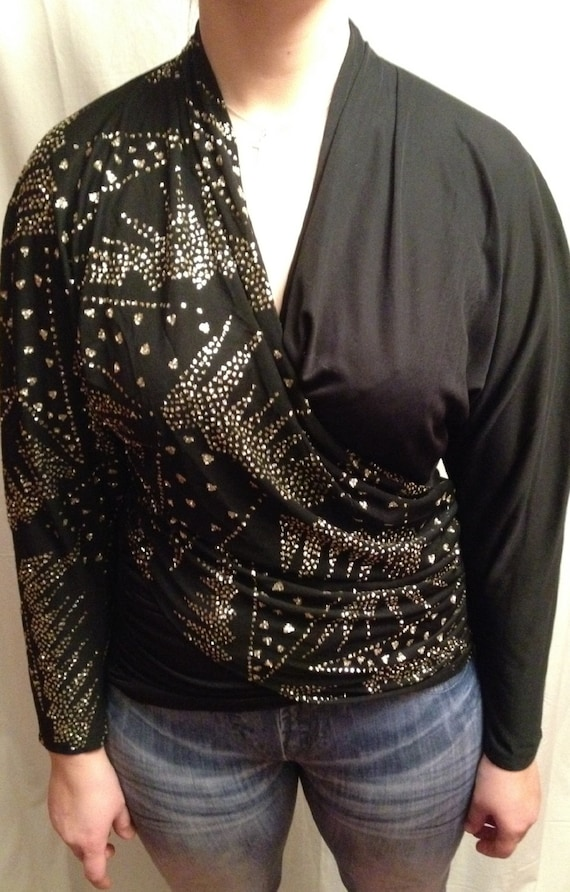 Black Blouse With Holes On Side 117