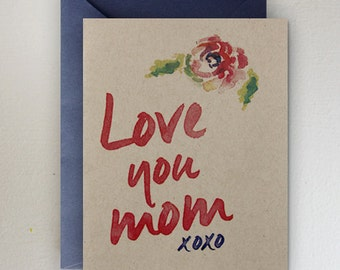 Love You Mom XOXO Mother's Day Card