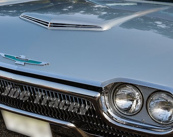1963 Ford Thunderbird, Classic Cars, Automotive Decor, Automobile Photography, Wall Art, Old Cars, Car Pictures
