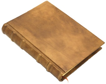 Leather diary bound in Antique-Style
