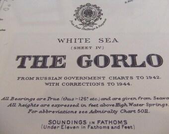 White Sea - The Gorlo - Sosnovskaya Strait - Nautical Chart