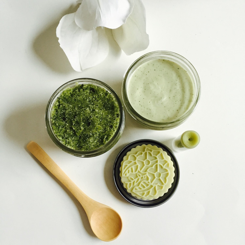 Matcha Green Tea Gift Set Body butter Sugar Scrub by KayaSoaps