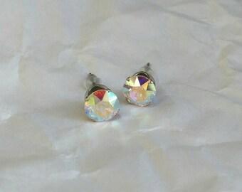 Aurora Borealis Swarovski® Crystal Stud