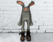 Kevin / art doll / art toy / sculpture / art doll in a bunny suit