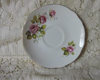 "Dutchess Saucer Plate - ""Edithe"" Bone China made in England"