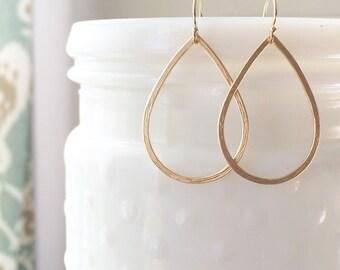 MIA | Gold Teardrop Earrings | Simple Gold Teardrop Earrings | Light Earrings | Dainty Gold Filled Earrings | Gold Fill Teardrop Earrings