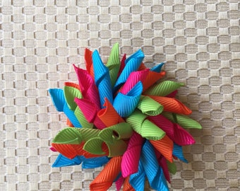 Multicolor hair clip, baby hair clip, infant hairbow, ponytail holder,