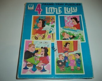 Vintage Whitman Little Lu Lu Frame Tray Puzzles x 4 Boxed Excellent Used Condition 1970's