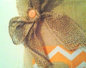 REDUCED Tennessee Burlap Yard Flag CIJ Christmas in July Sale
