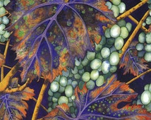 "LIMITED EDITION Art Print -""Toscana"" -A3 foliage print, wall art, vine leaves painting, grapes, autumn, fall, from a painting by Liz Marsh"