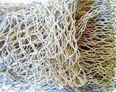 Fish Net 3x5 ft-Vintage Fish Net-Fish Netting-Nautical Maritime Decor-Fishing Net-Wreath Decor-Sea Creature Display-Coastal Nautical Decor