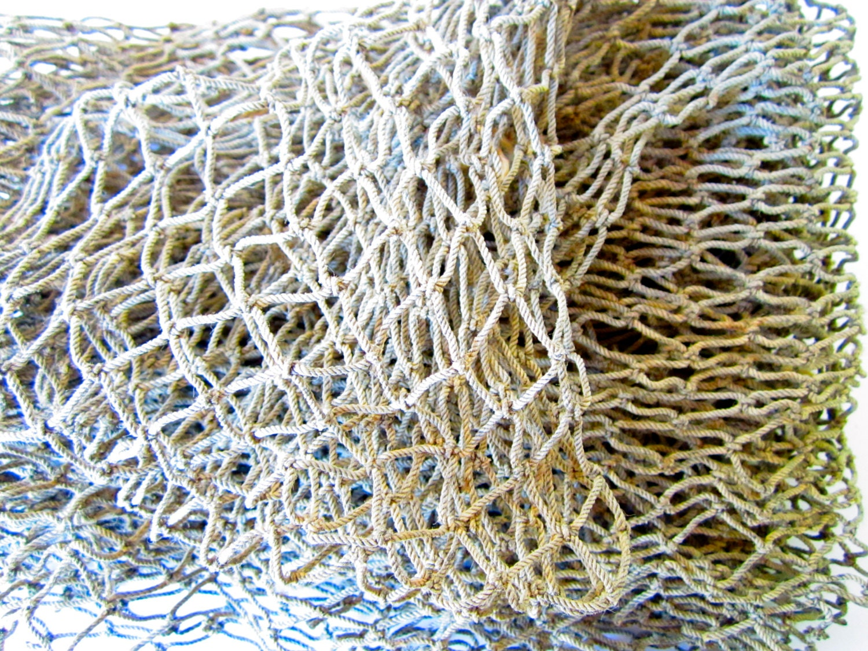 Fish net 3x5 ft vintage fish net fish by mermaidcovegiftshop for Fish netting decor