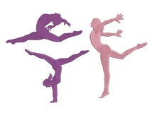 Gymnastics Embroidery Design - Set of 3 - Machine Embroidery - Instant download