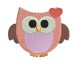 OWL Embroidery Design - 3 sizes Instant Download